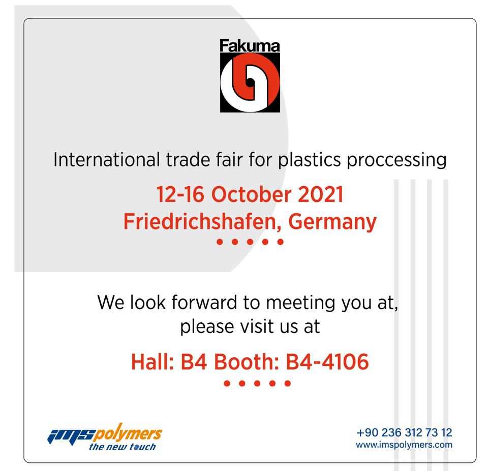 Fakuma International Trade Fair For Plastics Processing 2021