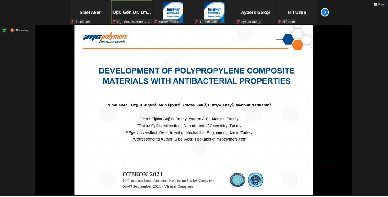 We participated as IMS Polymers in the OTEKON 2021 Congress, which was held online between 6-7 September 2021.